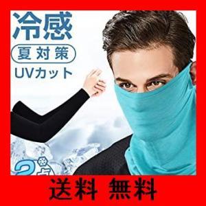 [LAMA]フェイスマスク アームカバー UV フェイスカバー 腕 ランニング 夏用 冷感 UVカット 在庫有り スポーツ ネックガード マスク 日|noel-honpo