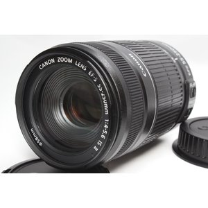 望遠レンズ Canon キヤノン EF-S 55-250mm F4-5.6 IS II レンズ 手ブ...