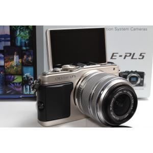 ミラーレス一眼 OLYMPUS オリンパス PEN E-PL5 レンズキット シルバー 新品SDカー...