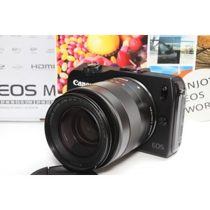 ミラーレス一眼 Canon キヤノン EOS M レンズキット ブラック 新品SDカード付き