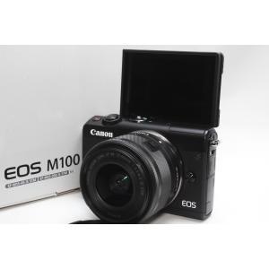 ミラーレス一眼 Canon キヤノン EOS M100 EF-M15-45 IS STM レンズキッ...