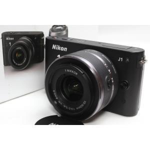 ミラーレス一眼 Nikon ニコン 1 J1 標準ズームレンズキット ブラック 新品SDカード付き