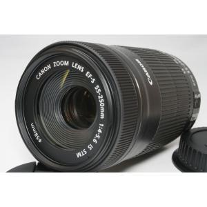 望遠レンズ Canon キヤノン EF-S 55-250mm F4-5.6 IS STM レンズ 手...
