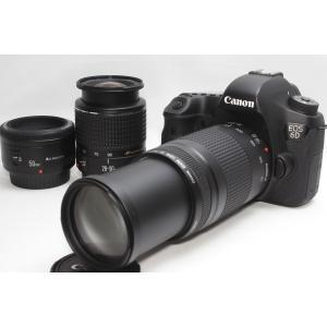 ショット数極少 フルサイズ一眼レフ Canon キヤノン EOS 6D トリプルレンズセット Wi-...