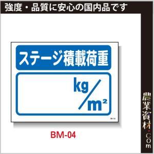 まんが標識(PP製) 450×600 BM-04「ステージ積載量」 イラスト 標識 建設現場 安全第一 安全衛生|nogyo-shizai