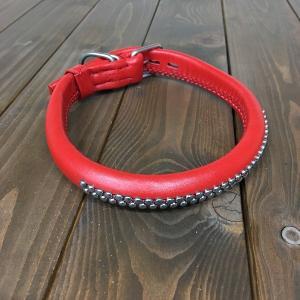 犬用 首輪 大型犬用 革製 サイズ55 AKU-020 《訳あり・少々難あり》