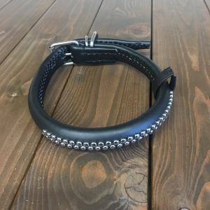 犬用 首輪 大型犬用 革製 サイズ50 黒 AKU-027 《訳あり・少々難あり》|nohohonlibre
