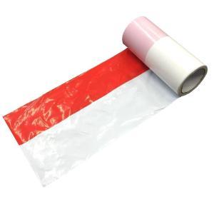 紅白テープ大/紅白ビニールテープ大 幅約22.5cm 約50m巻 ビッグサイズ|nohohonlibre