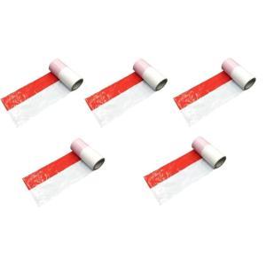 紅白テープ大/紅白ビニールテープ大 幅約22.5cm 約50m巻 ビッグサイズ 5個セット|nohohonlibre