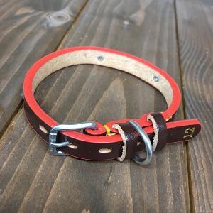 ドギーマン DoggyMan 革製 首輪 ブラウン 表記12 Doggy-001 《訳あり・少々難あり》|nohohonlibre