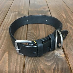 ドギーマン DoggyMan 革製 首輪 ブラック 表記30 Doggy-003 《訳あり・少々難あり》|nohohonlibre