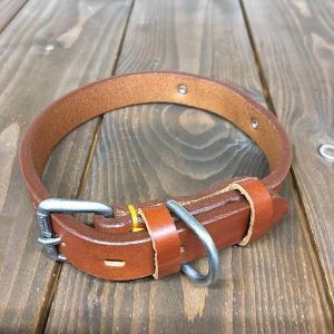 ドギーマン DoggyMan 革製 首輪 ブラウン 表記18 Doggy-004 《訳あり・少々難あり》|nohohonlibre