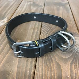 ドギーマン DoggyMan 革製 首輪 ブラック 表記24 Doggy-005 《訳あり・少々難あり》|nohohonlibre