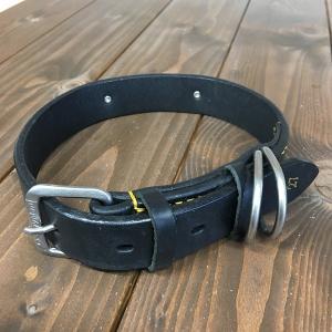ドギーマン DoggyMan 革製 首輪 ブラック 表記27 Doggy-010 《訳あり・少々難あり》|nohohonlibre