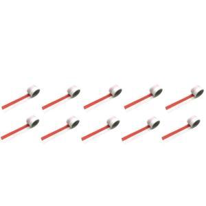 紅白テープ/紅白ビニールテープ 約50m巻 10個セット|nohohonlibre