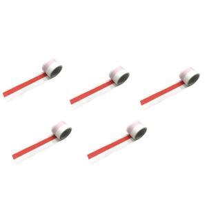 紅白テープ/紅白ビニールテープ 約50m巻 5個セット|nohohonlibre