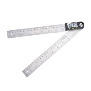 デジタル角度計 角度器 360度 分度器 20cm 定規 ホールド機能 DIY 生活防水