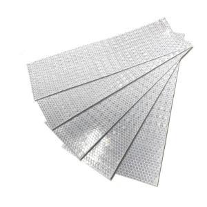プリズム 反射シール/反射テープ 約75×265mm ホワイト 5枚セット nohohonlibre