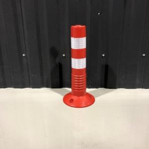 車線分離標 コーンポスト 45cm ガイドポスト 反射 ポール ガード 駐車禁止 視線誘導標 進入禁止 nohohonlibre