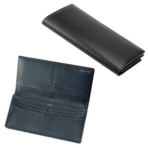 財布 メンズ 長財布 本革 小銭入れなし キプリスコレクション ボックスカーフ&リザード
