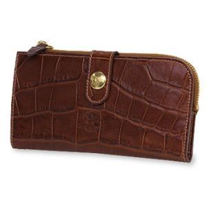 イルビゾンテ 財布 クロコダイル型押しコンチョスナップ長財布 商品番号5432411240 送料無料 財布 長財布 IL BISONTE|noix