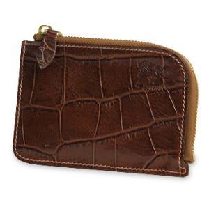 27251e6aa2d2 イルビゾンテ 財布 クロコダイル型押しLファスナー財布 商品番号5432411340 送料無料 財布 二つ折り