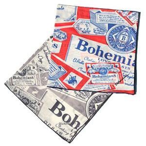 【ボヘミアンズ/Bohemians】BOHEMIANS BUD BANDANA(ボヘミアンズバドワイザーバンダナ) noix