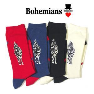 【ボヘミアンズ/Bohemians】LOVE ZEBRA SOCKS(ラブゼブラソックス) noix