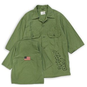 【s30】【CAL O LINE/キャルオーライン】PACIFIST FATIGUE 1/2 SLEEVE SHIRT【送料無料】【キャンセル返品交換不可】【let】|noix