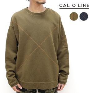 【CAL O LINE/キャルオーライン】CROSS STITCH SWEAT(クロスステッチスウェット)[CL192-021]【送料無料】|noix