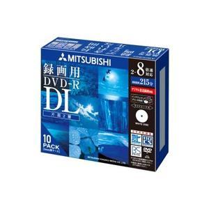 三菱ケミカルメディア 映像用 DVD-R DL 8倍速 10枚 インクジェット対応ワイド VHR21HDSP10