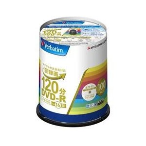 三菱ケミカルメディア 映像用 DVD-R 16倍速 100枚 インクジェット対応ワイド VHR12JP100V4