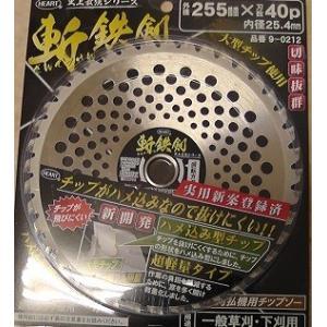 HEART 斬鉄剣 刈払機用チップソー品番9-0212 255x40p nojiyama