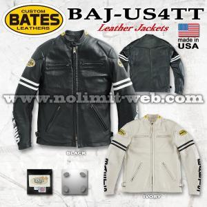 ベイツ レザージャケット BAJ-US4TT  メンズ Lサイズ 本革 革ジャン シングルライダース USA アメリカ製 BATES|nolimit-bates