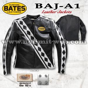 ベイツ レザージャケット BAJ-A1 メンズ 本革 シングルライダース 革ジャン BATES|nolimit-bates
