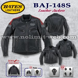 ベイツ レザージャケット BAJ-148S (アイボリー Mサイズ) メンズ 本革 革ジャン ライダース BATES|nolimit-bates