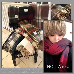 【NOLITA / ノリータ】 色とりどりチェックの大判ストール