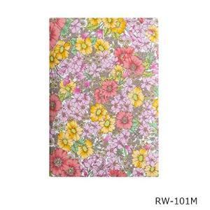 英国リバティ社の生地を使った御朱印帳 膨らし表紙 リバティー生地 かわいい 花柄 Mサイズ 16×11センチ 46ページ ビニールカバー付き
