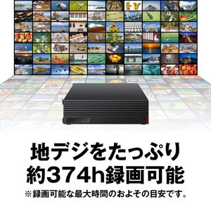 BUFFALO USB3.1(Gen.1)対応 外付けHDD 3TB ブラック HD-LD3.0U3-BKA|nomad