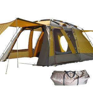 Hewflit テント オールインワン 4-5人用 リビング キャンプ ドーム シェルター 防水 ツールーム ファミリー アウトドア インナ|nomad