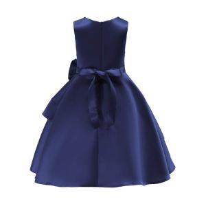 Ymgot キッズ ドレス フォーマル 女の子 ドレス ロング 大きなリボン ピアノ発表会 演奏会 結婚式 七五三 (120cm) nomad