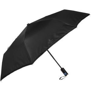 (ランバン オン ブルー)LANVIN en bleu 紳士折りたたみ傘 自動開閉式 軽量 無地×グ...