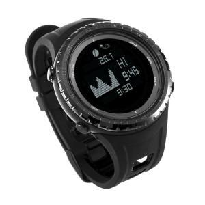 Tiangtech? 潮 気圧計 高度計 機能付 デジタル スポーツ釣り時計 スマート防水 腕時計 12 重要な屋外機能付 スポーツ ウォッ nomad