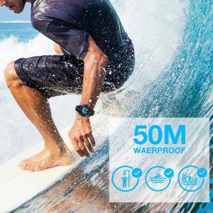 KONXIDO 腕時計 メンズ 日本製クォーツムーブメント 鋼帯 日付表示 曜日 アナデジウォッチ 男性 時計 防水腕時計 カジュアル ビジ nomad