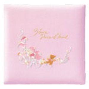 ベビーアルバム 出産祝い 名入れ アーデント おやすみ赤ちゃんとクマさん L判 ピンク アルバム No. 106080|nomado1230