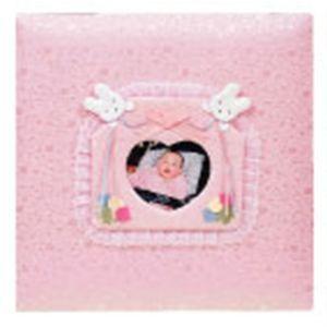 ベビーアルバム 出産祝い 名入れ アーデント クマさん写真ポケット付き L判 ピンク アルバム No. 116060|nomado1230