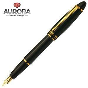 万年筆 名入れ アウロラ イプシロン ゴールドクリップ 万年筆 ブラック B11-N|nomado1230