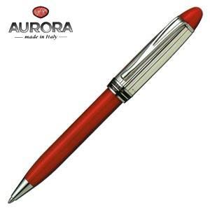 高級 ボールペン 名入れ アウロラ イプシロン・シルバー・キャップ ボールペン レッド B34CR|nomado1230