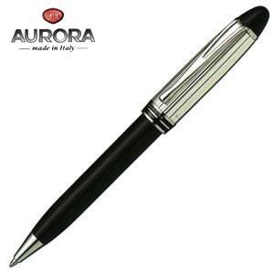 高級 ボールペン 名入れ アウロラ イプシロン・シルバー・キャップ ボールペン ブラック B34CN|nomado1230