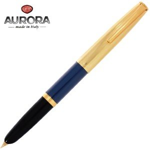 万年筆 名入れ アウロラ ただいま予約受付中 DUOCART デュオカルト 万年筆 ゴールドキャップ・ブルー DC57-DBM|nomado1230